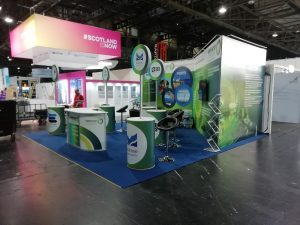 set up of shell scheme for exhibition stand