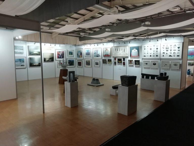 Shell Scheme set up for Borders art fair