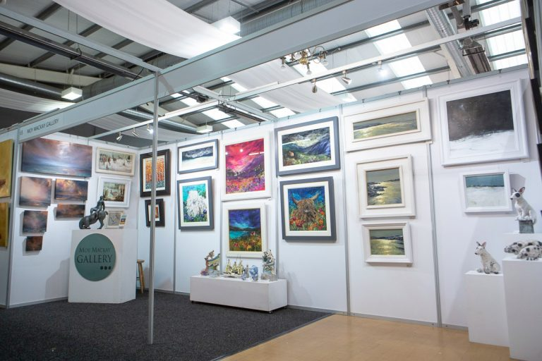 set up of shell scheme hire for borders art fair
