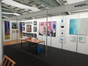 Shell Scheme set up for Borders art fair
