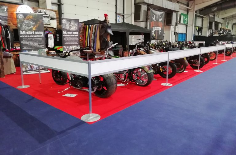 event set up for MCN Bike Show