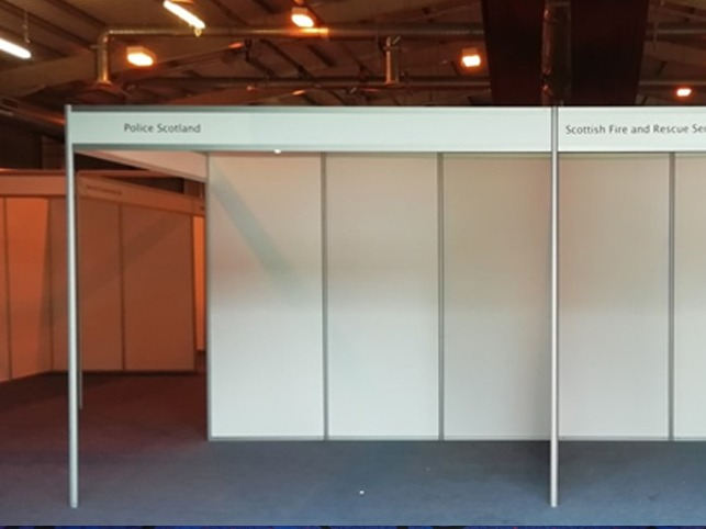shell scheme hire and power and lighting for meet the buyer
