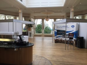 Event set up for NHS Hydro social services expo