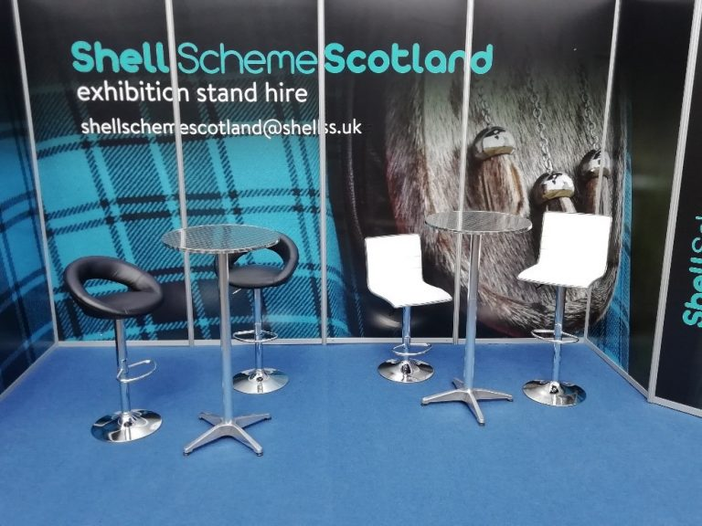 chairs and table hire for shell scheme event