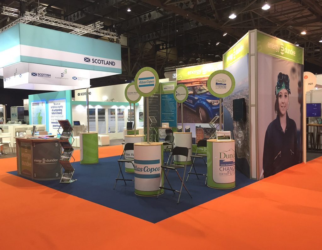 full printing and design service for exhibition shell scheme